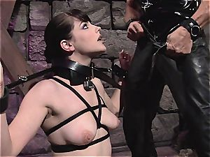 Locked strapped and tantalized in the basement of extraordinary enjoyment