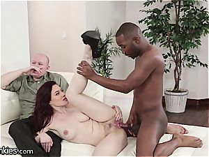 knob depraved Jessica cuckolds her spouse with a bbc